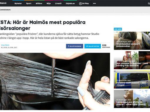 Poängmässigt delad 3:e plats på Malmös mest populära salonger!